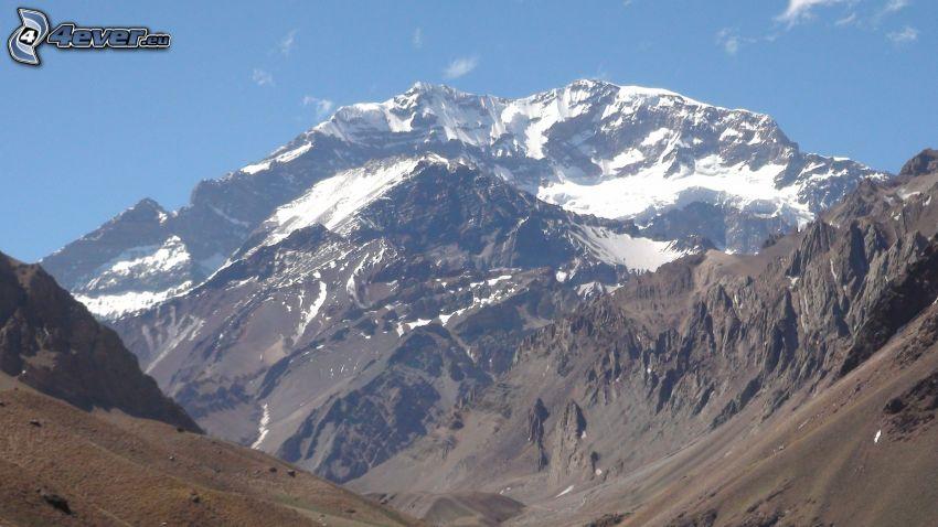 Aconcagua, snowy hill