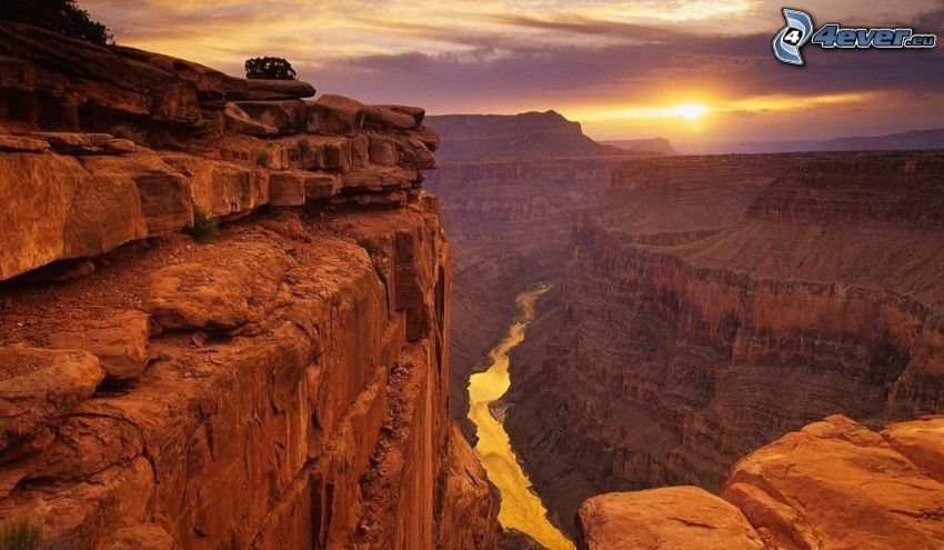 Grand Canyon, cliff, rocky mountains, view of the landscape
