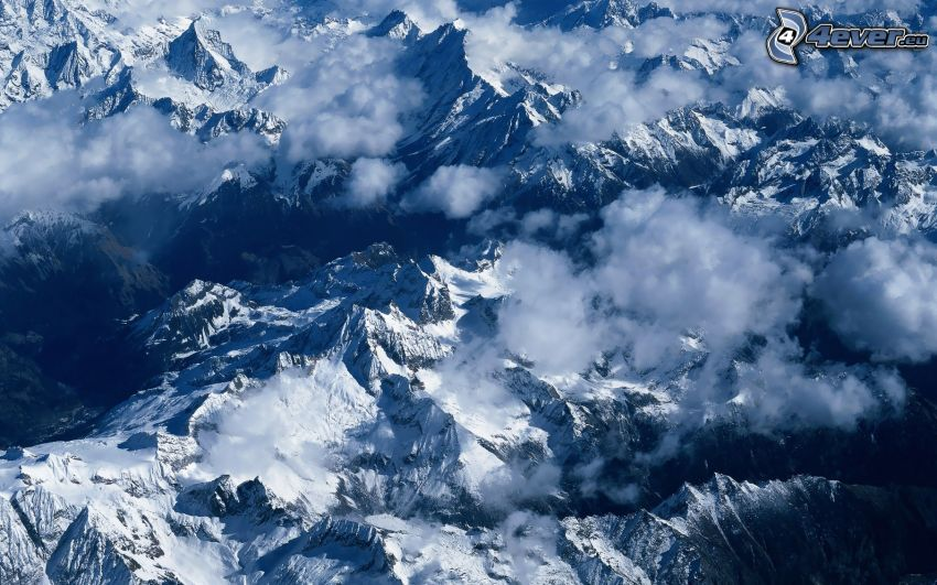Himalayas, snowy mountains
