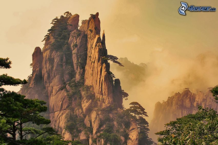 Huangshan, rocky mountains