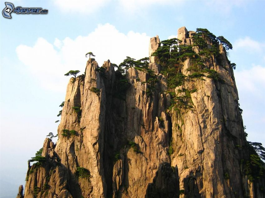 Huangshan, rocky mountains
