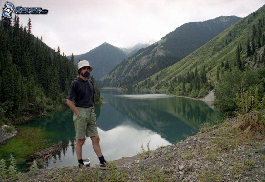 Kolsai Lakes, hills, tourist