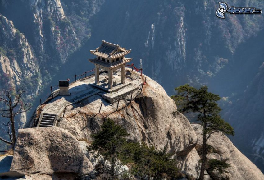 Mount Huang, rocky mountains, view