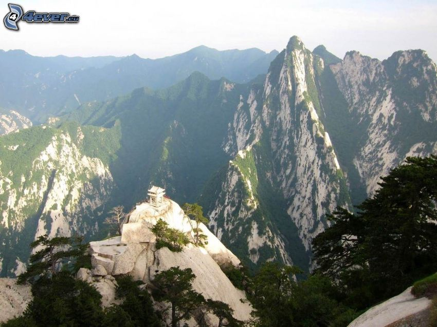 Mount Huang, rocky mountains