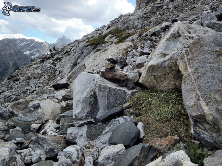 Mount Moran, Wyoming, rocks