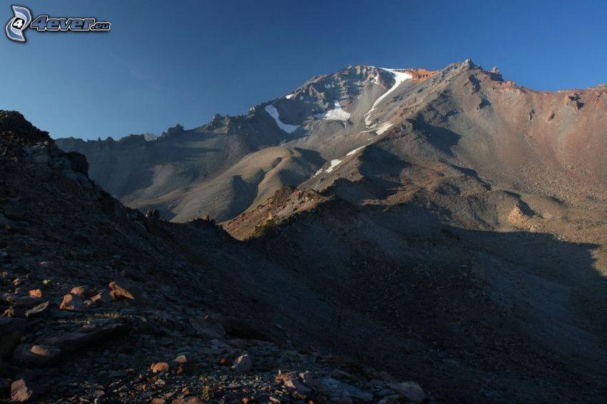 Mount Shasta, rocky mountain