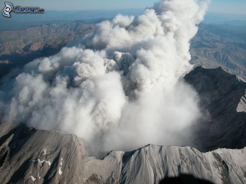 Saint Helens, volcano, crater