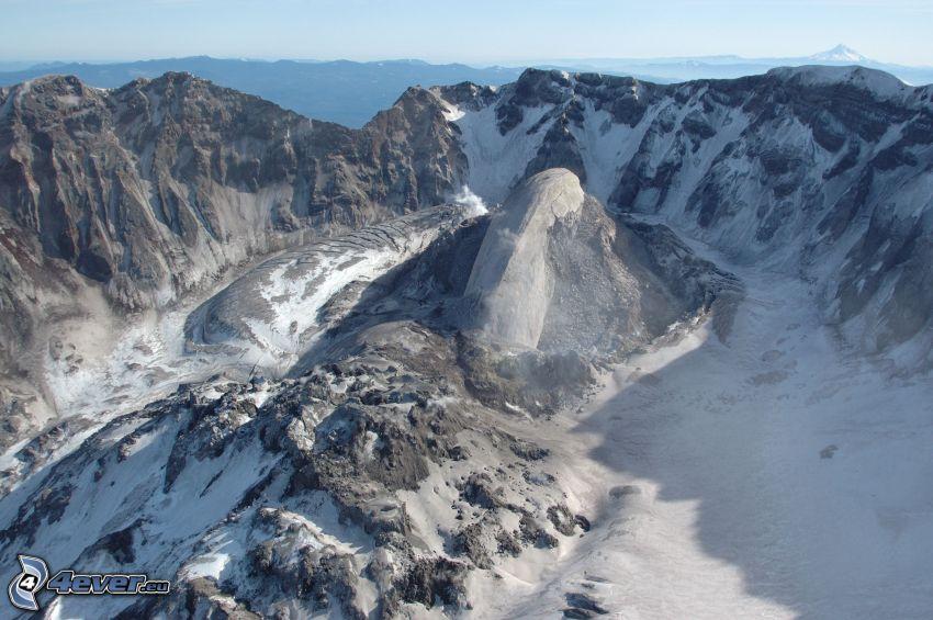 Saint Helens, volcano, rocks