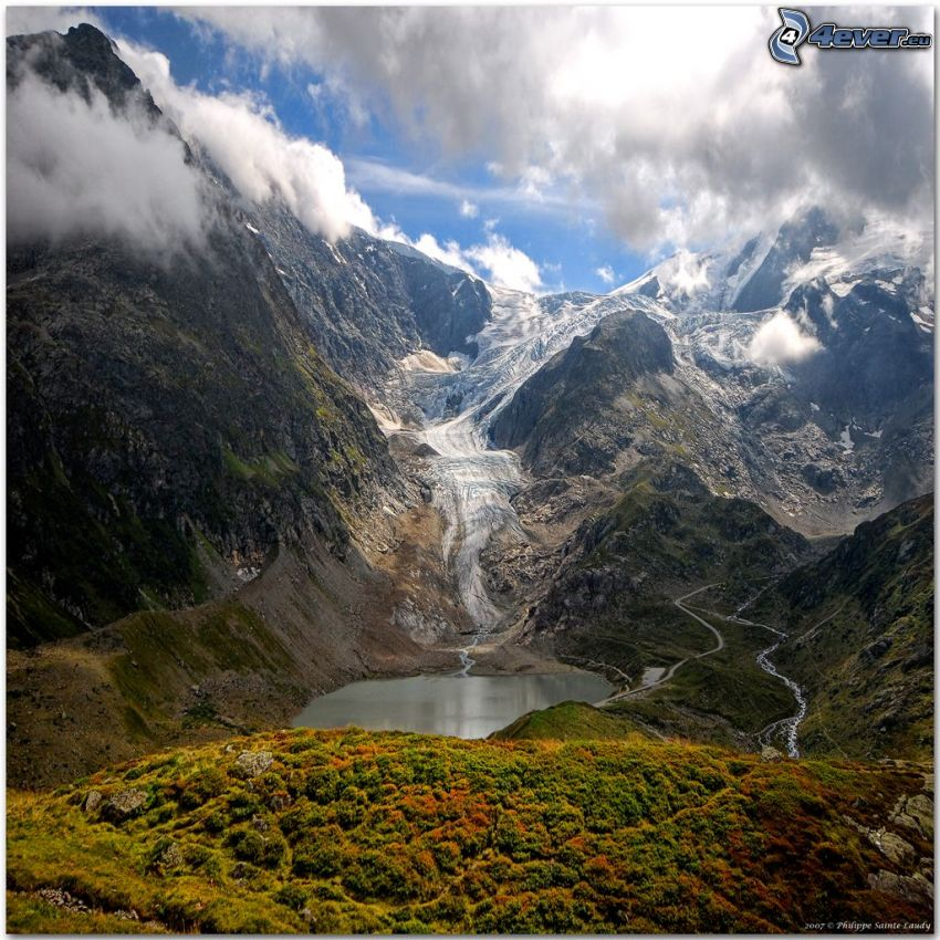 Swiss Alps, mountains, mountain lake
