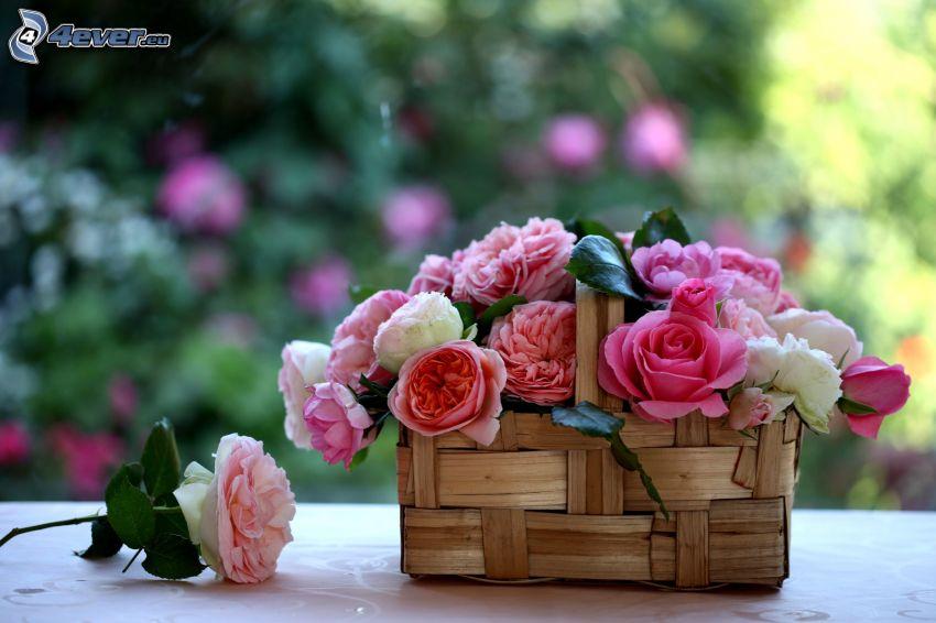 flowers, basket