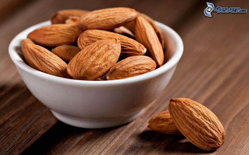 almonds, bowl