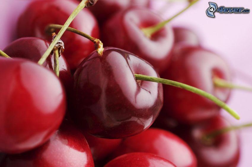 cherries, macro