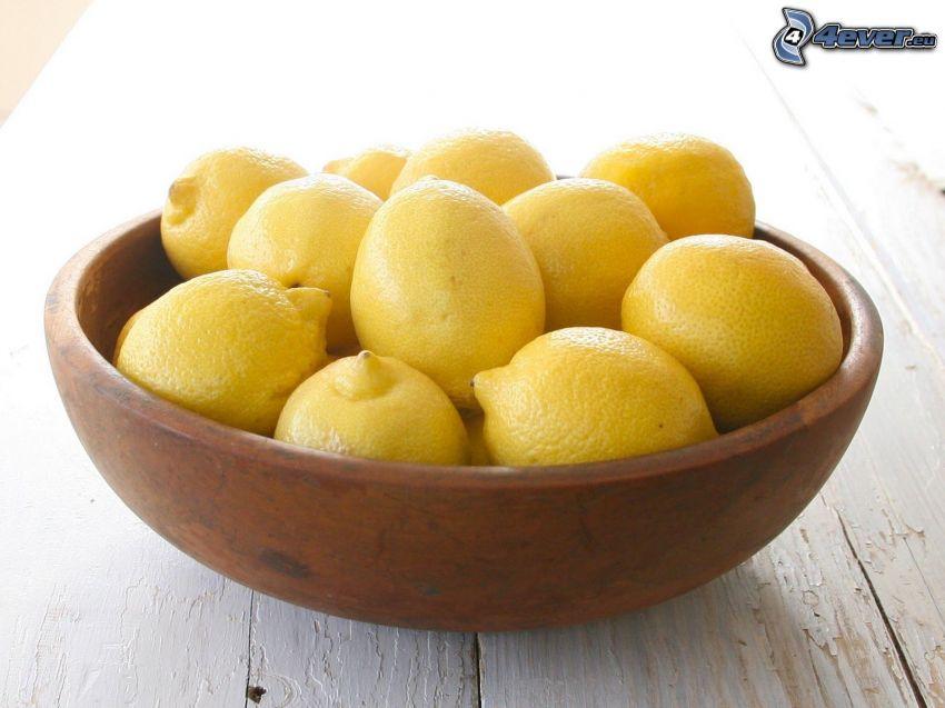 lemons, bowl