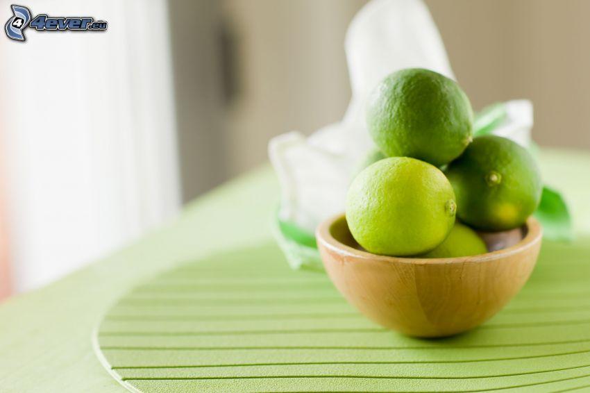 limes, bowl
