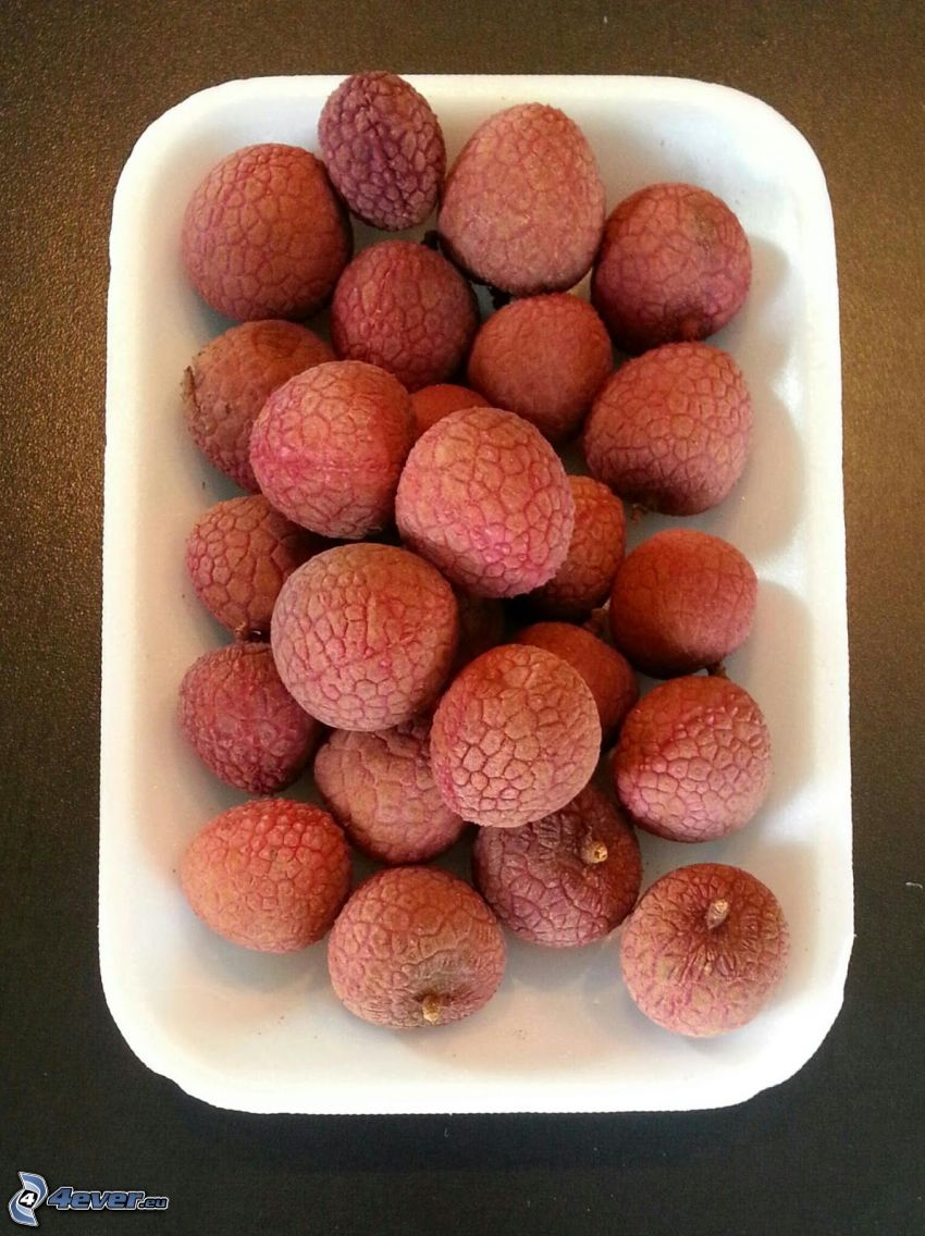lychees, bowl
