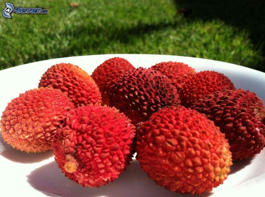 lychees, bowl