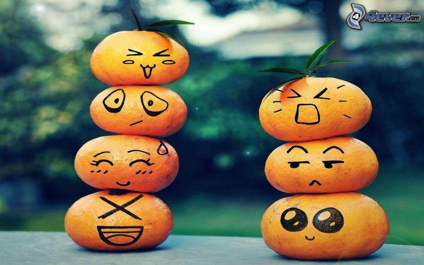 mandarines, smiles
