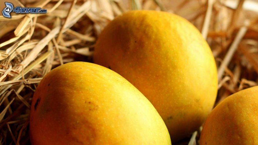 mango, straw