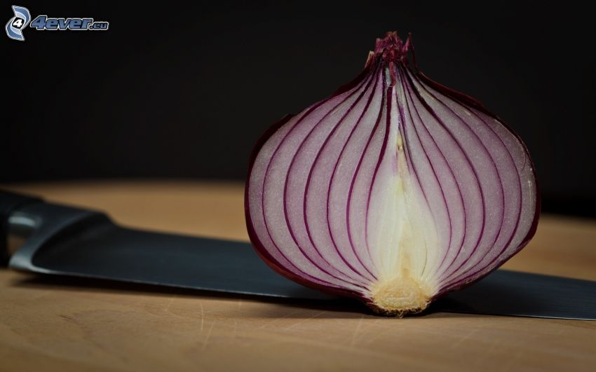 onion, knife