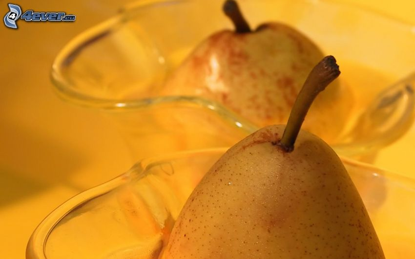 pear, bowl