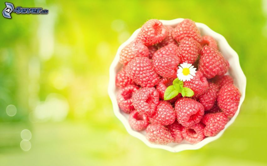 raspberries, bowl