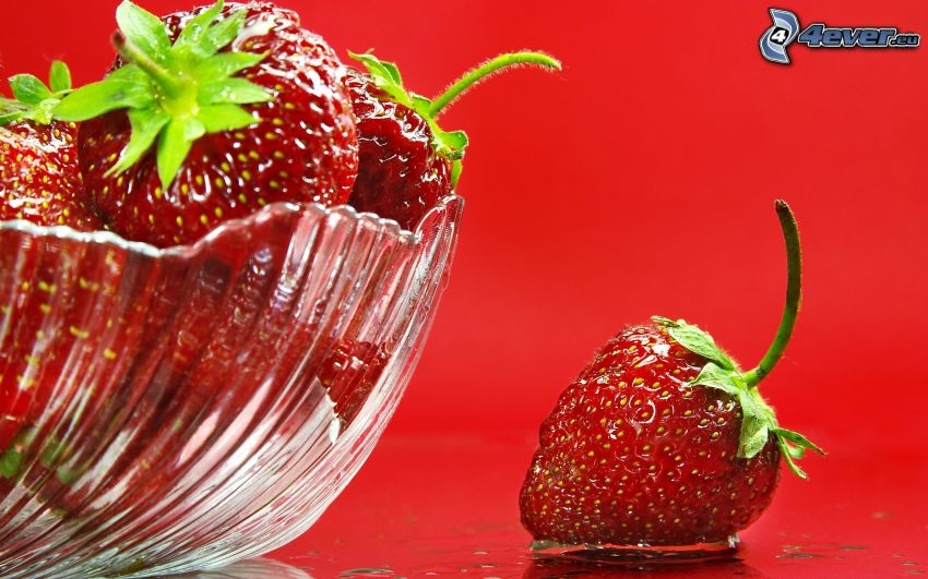 strawberries, bowl