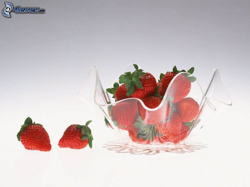 strawberries, bowl