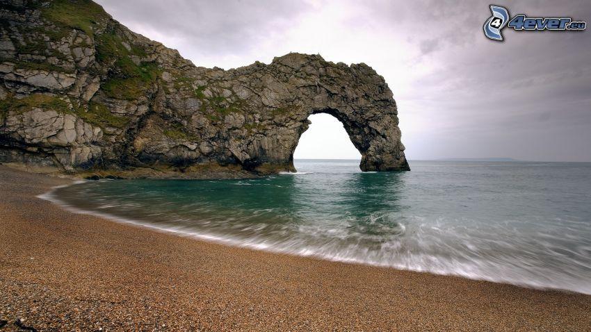 rocky gate on sea, coast