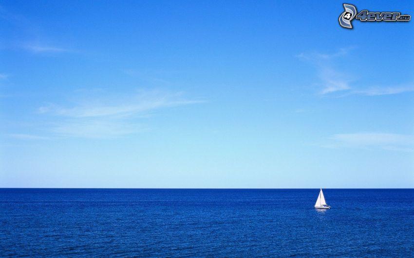 boat at sea, yacht, sailing boat, open sea