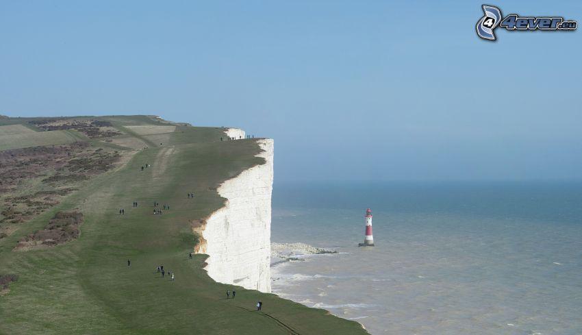 cliff, lighthouse, sea