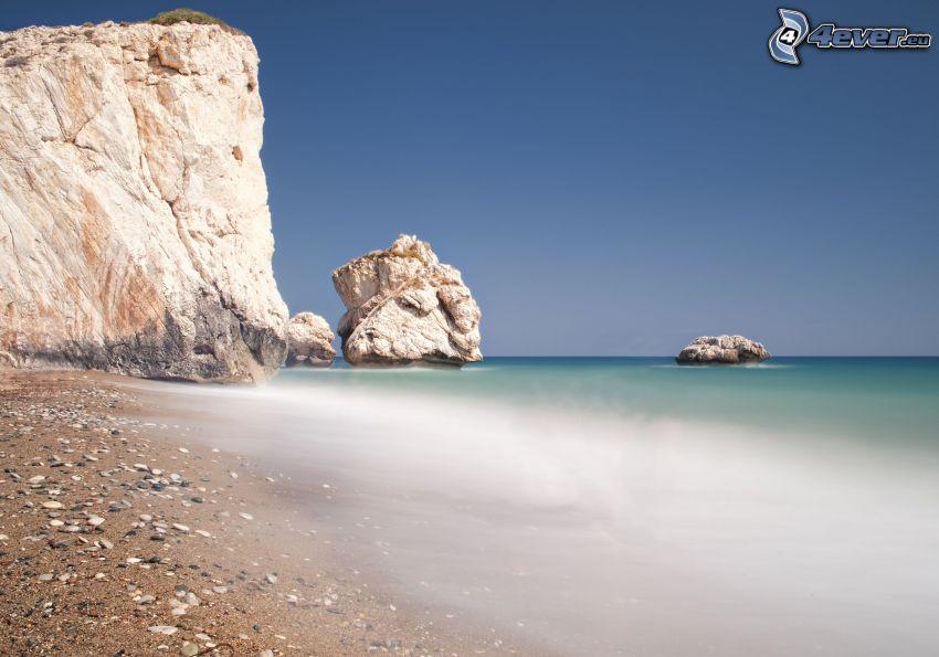 cliff, sea, coast