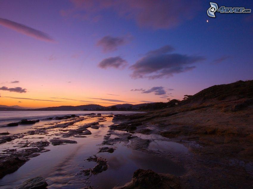 coast, evening sky