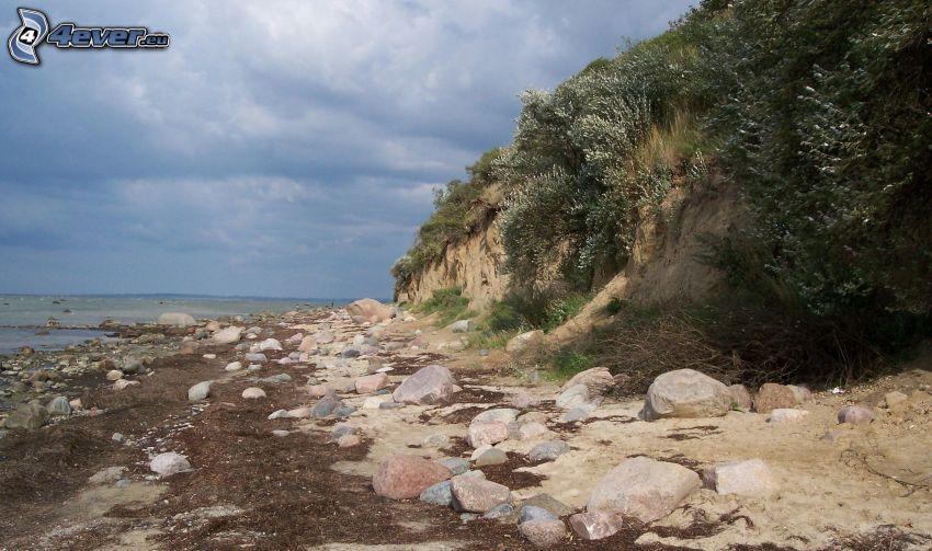 coast, rocks