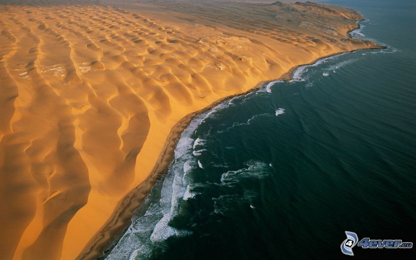 coast, sand, sea, Namibia