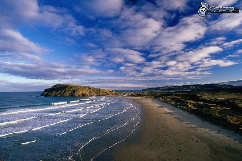 coast, sea, clouds