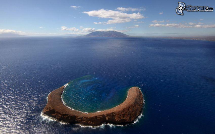 crater, sea