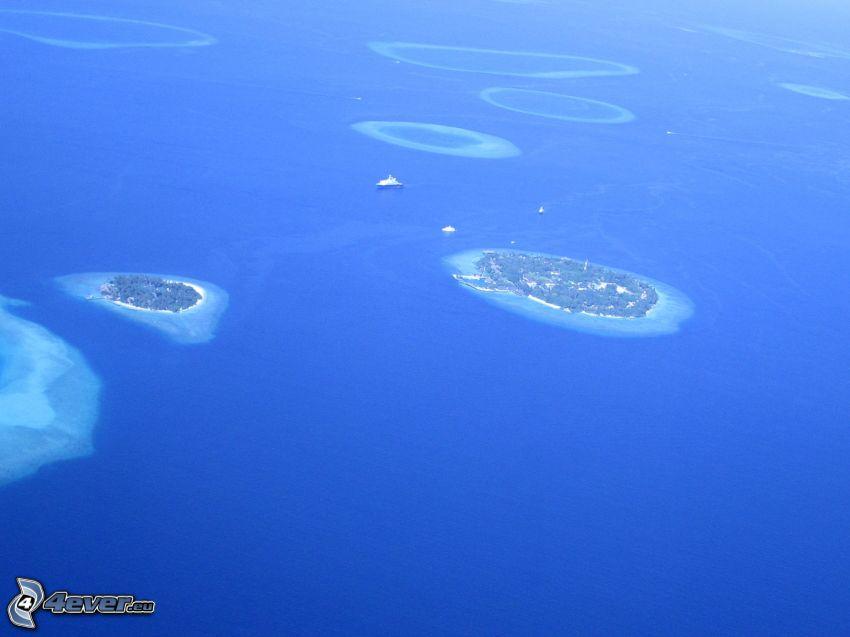 islands, sea