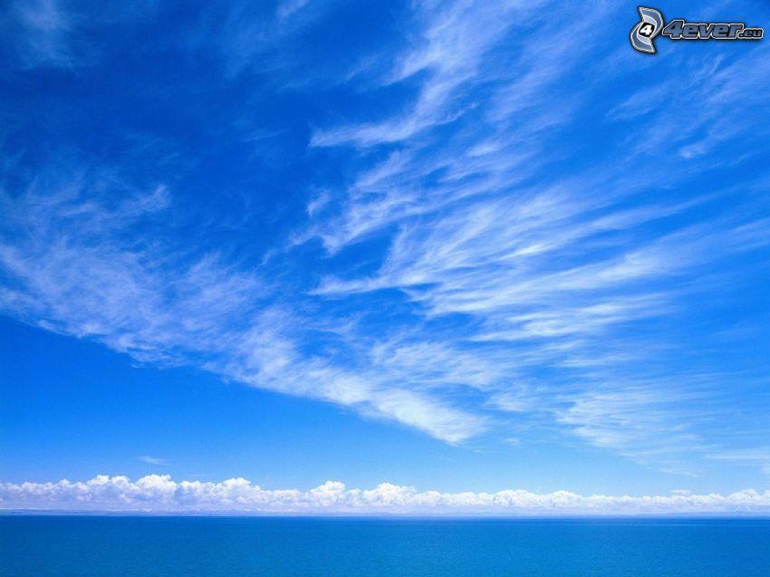 open sea, clouds