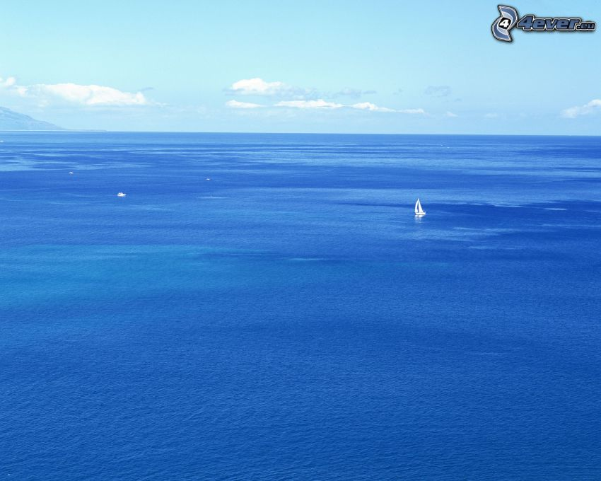 open sea, ocean, yacht