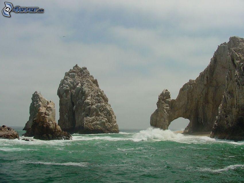 rocks, sea
