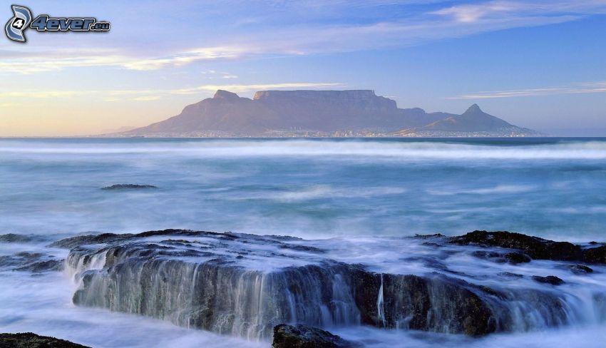 rocks in the sea, island