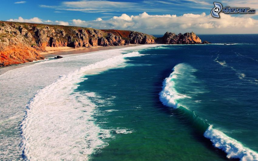 rocky shores, sea