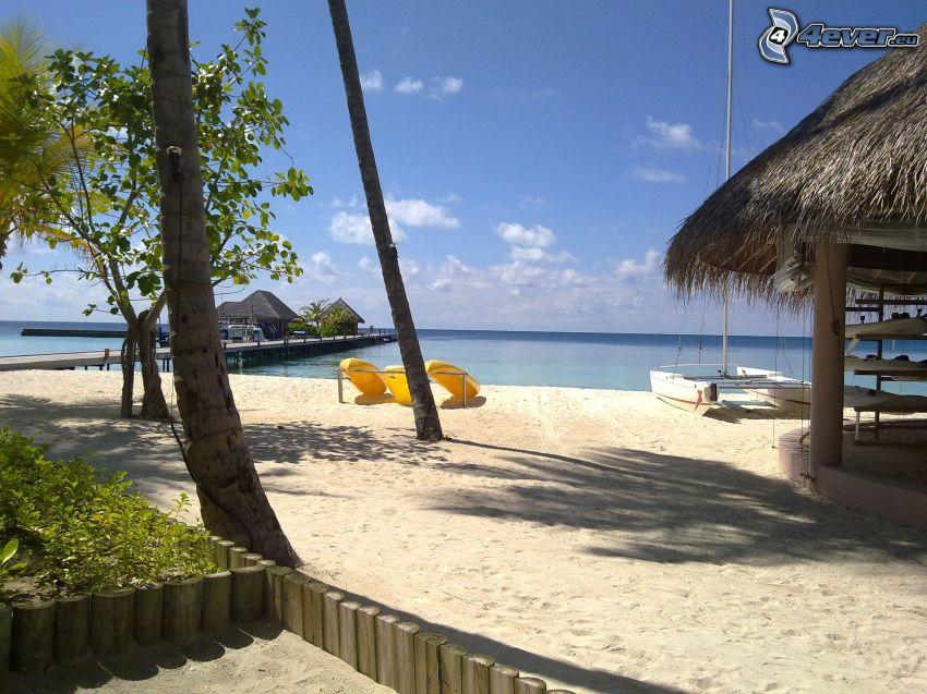 sandy beach, vacation