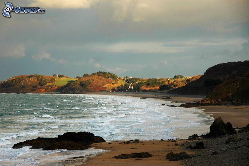 sea, coast