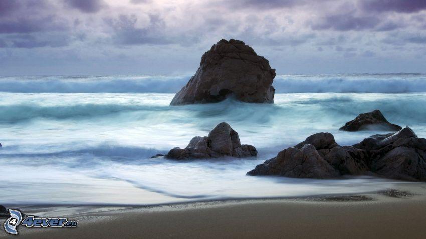 sea, rocks, coast