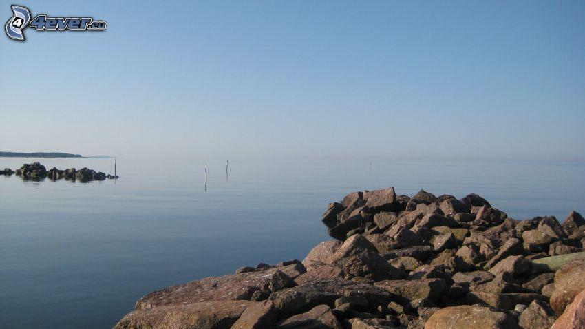 sea, rocks