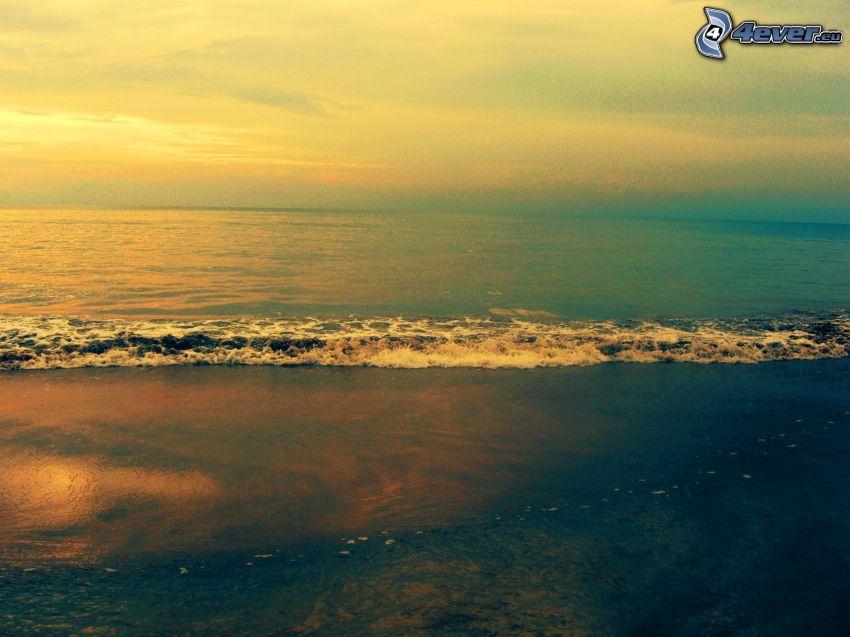 sea, sunrise