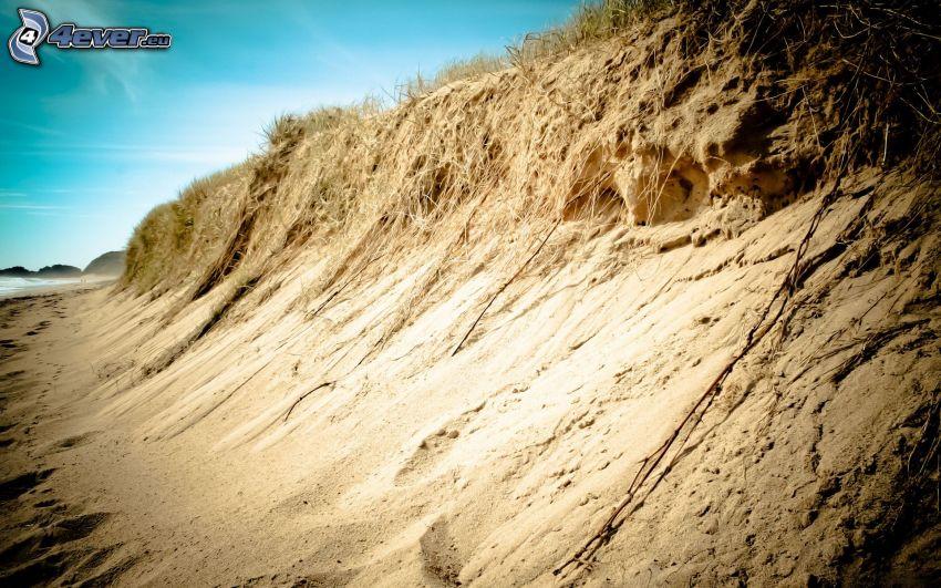 ski slope, sand