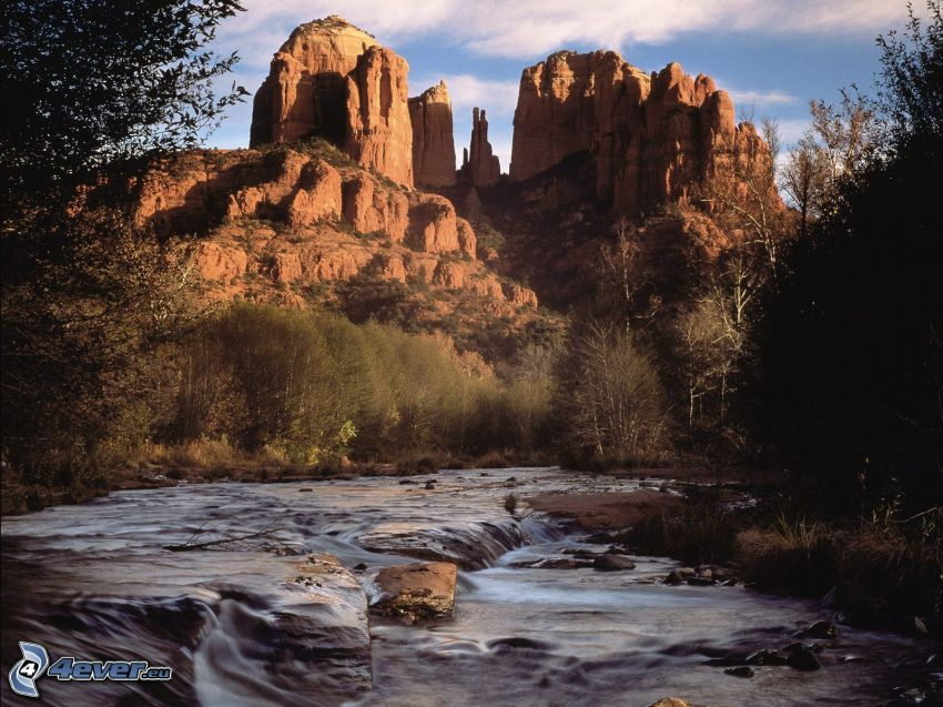 Sedona - Arizona, rocks, River