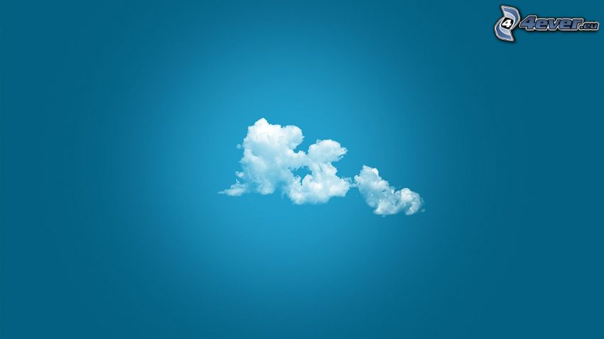 clouds, blue background